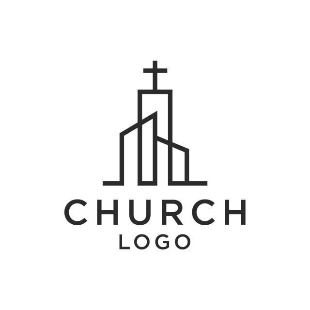 Church Christian Line Art Logo Design Church Clipart Black And White Line Icons Logo Icons Png And Vector With Transparent Background For Free Download Church Logo Church Logo Design Church Logo