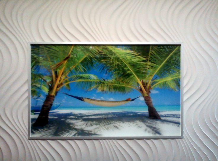 Exhibition of decorative panels (low quality photo)