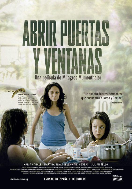 "Abrir puertas y ventanas (2011) ""Abrir puertas y ventanas"" de Milagros Mumenthaler - tt2023367"