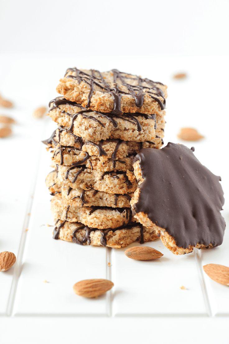 Vegan Almond Oat Coconut Cookies