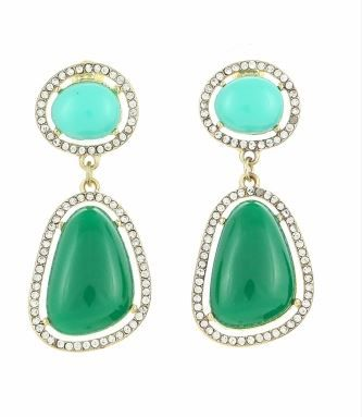 Pave crystal drops - green  Visit blackvelvetcollection/facebook.com to view full spring collection