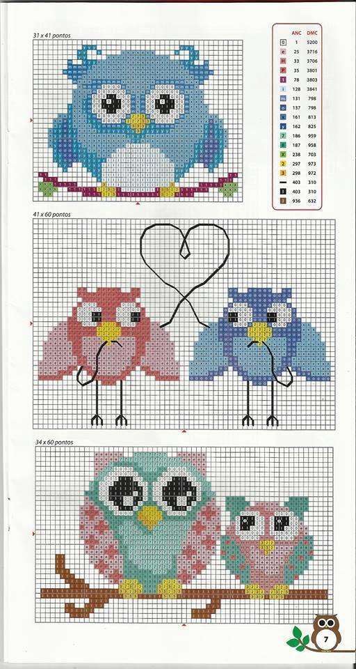 owl pattern cross stitch