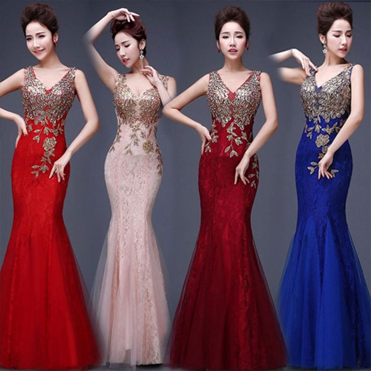 Women Formal Wedding Bridesmaid Long Evening Party Ball Prom Gown Cocktail Dress | Clothing, Shoes & Accessories, Women's Clothing, Dresses | eBay!