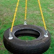 how to build a tire swing with rope