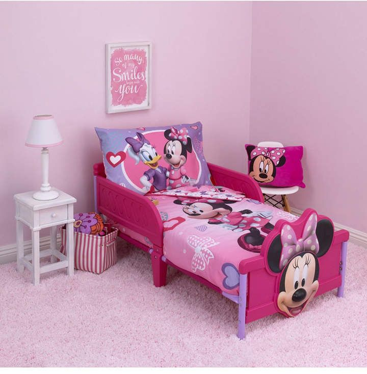 Disney Minnie Mouse 4 Piece Toddler Bedding Set Reviews Bed In