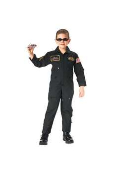 Jr GI Kids Black Top Gun Flight Coverall w Insignia Patches ! Buy Now at gorillasurplus.com