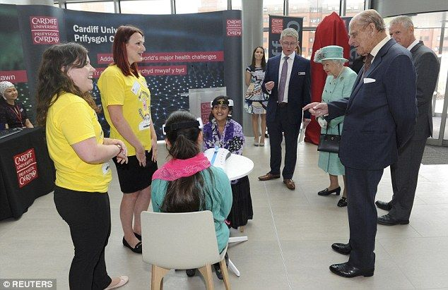 The Queen and Prince Philip attend the opening of the Cardiff University Brain Research Imaging Centre