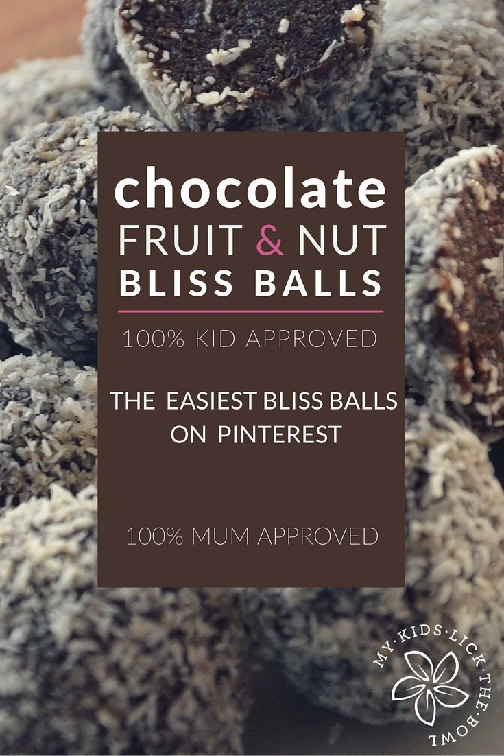 Chocolate Fruit and Nut Bliss Balls | The Easieist bliss ball recipe on the net | My favourite bliss ball recipe. Simple, no fuss and a base recipe that you can adapt depending on what is in your cupboard My Kids Lick The Bowl 2016