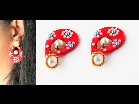 Creative fingers: How to make Teardrop shaped silk thread earrings/Simple and beautiful silk thread chandbali earrings