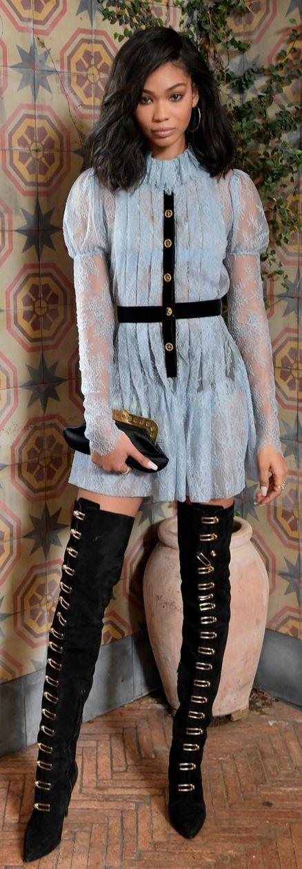Chanel Iman: Dress – Philosophy di Lorenzo Serafini  Shoes – Stella Luna  Jewelry – Ileana Makri