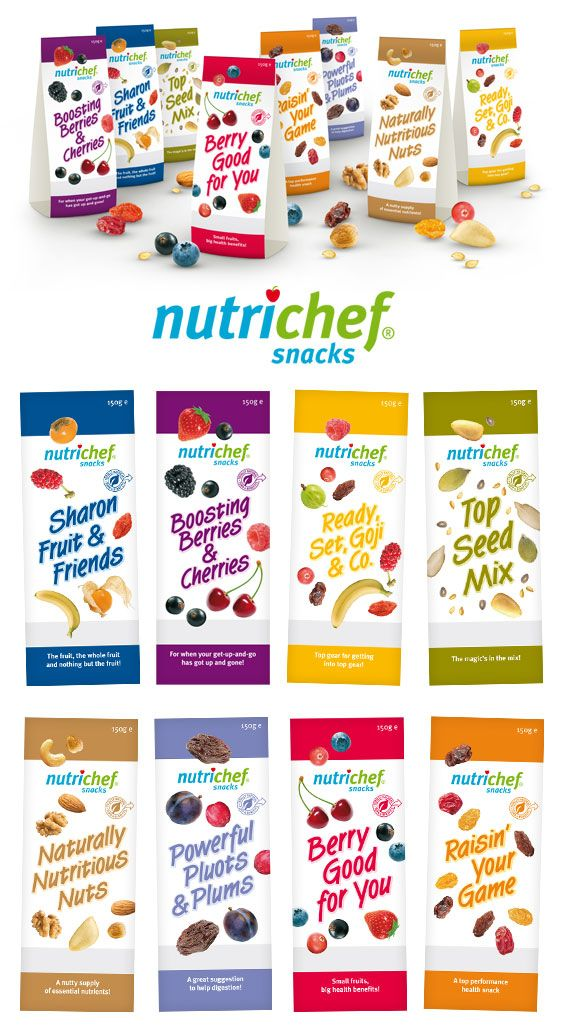 Nutrichef: mixed nuts and fruit packaging