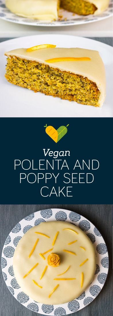 A really nice and impressive vegan cake. Polenta and poppyseed go together so well! And marzipan takes it up another notch.