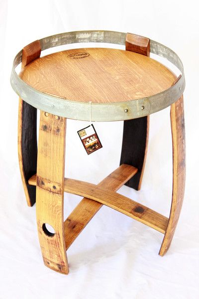 This hand made table is the perfect accent piece to your home decor.Made from a reclaimed Napa Valley wine barrel. Wine barrels are made from quarter sawn oak