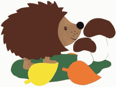 Autumn hedgehog  This hedgehog is a pretty autumn window decoration which is easy to make. It is suitable for children of primary school age and, depending on the ability and age of the children, takes approx half and hour to three quarters of an hour.