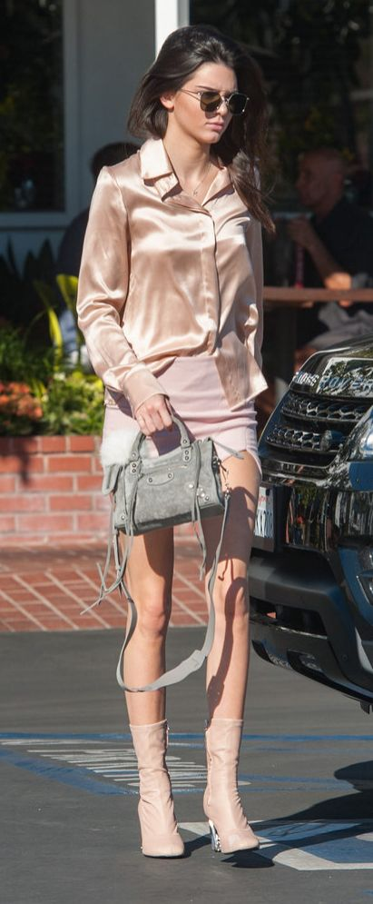 Kendall Jenner steps out in an all-pink look