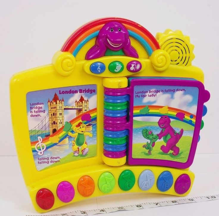 BARNEY the Dinosaur Electronic Nursery Rhyme STORYBOOK Musical Piano Mattel 2001 #Mattel