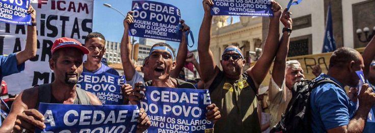 Movimento Unificado dos Servidores Públicos Estaduais (Muspe) realiza mais uma manifestação nesta terça-feira 14 em frente à Assembleia Legislativa do Estado do Rio de Janeiro (Alerj) contrária à p…