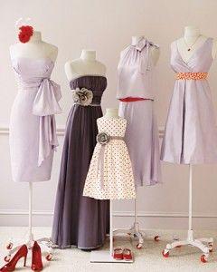 Wedding Colors: Lavender and Red   Martha Stewart Weddings