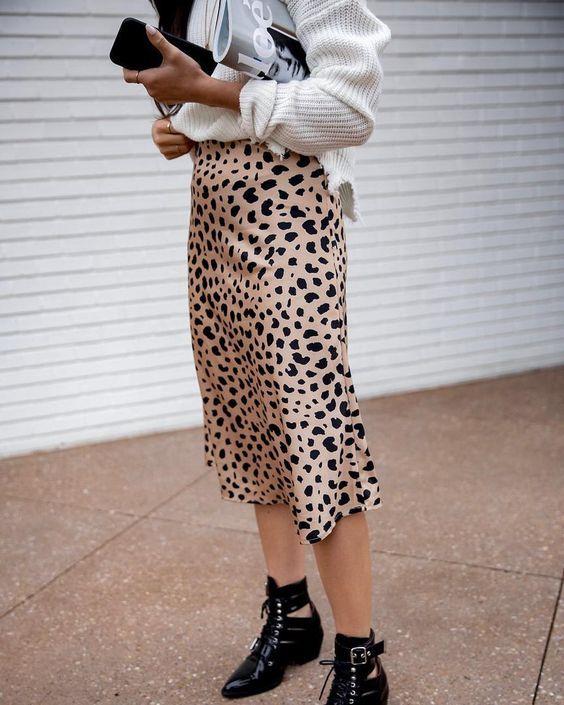 c5f50b6bdd55a3 NAKIE Leopard Printed Midi Skirt | Things | Midi Skirt, Skirts, Online  fashion stores