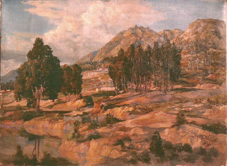 Óleo. Cerros orientales, Bogotá, Colombia, 1940.