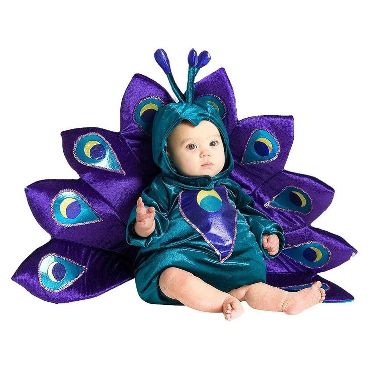 Baby Kids' Baby Peacock Costume 12-18 Months, Kids Unisex, Multicolored
