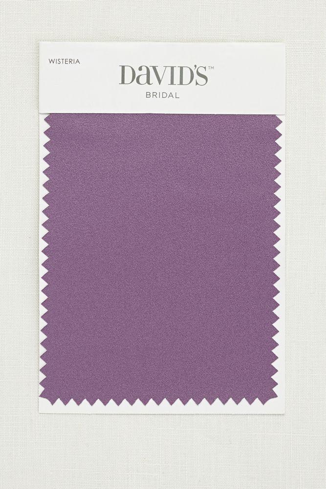 Wedding Dress Wisteria Satin Fabric Swatch - Wisteria (Purple)