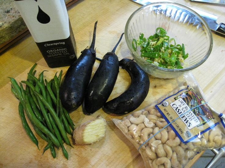 Recipe: Eggplant Stir-fry with Green Beans and Cashews
