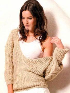 iKnitts: Como tejer un jersey de punto con doble escote