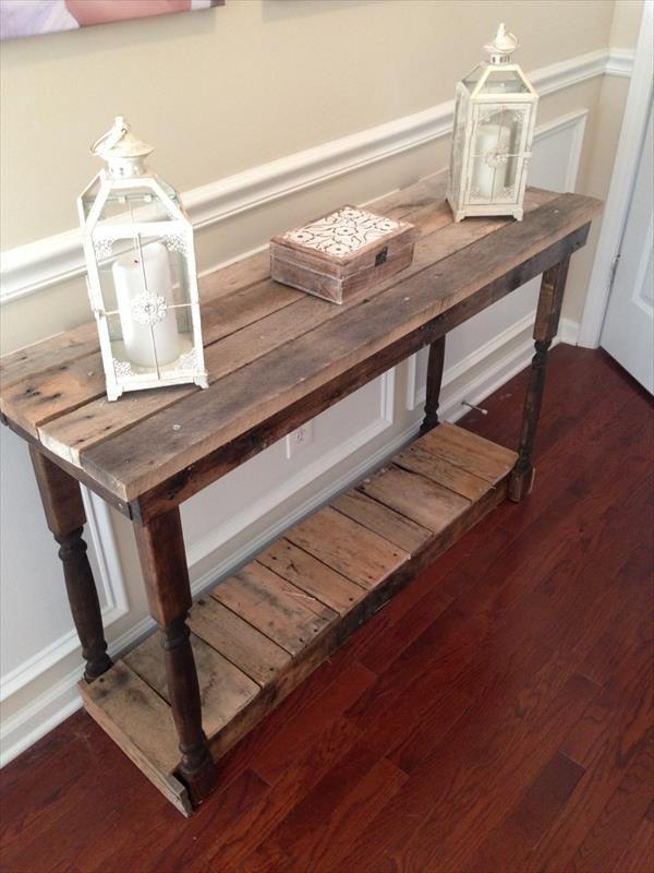 DIY pallet Foyer Table   Pallet Furniture DIY