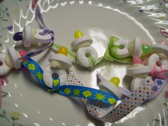 Jelly Bean and Lifesavers pacifier favors   Baby Shower ...