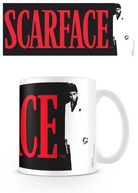 Taza logo Scarface Estupenda taza con la imagen del logo del film Scarface con la silueta de Tonny Montana, su principal protagonista 100% oficial y licenciada.