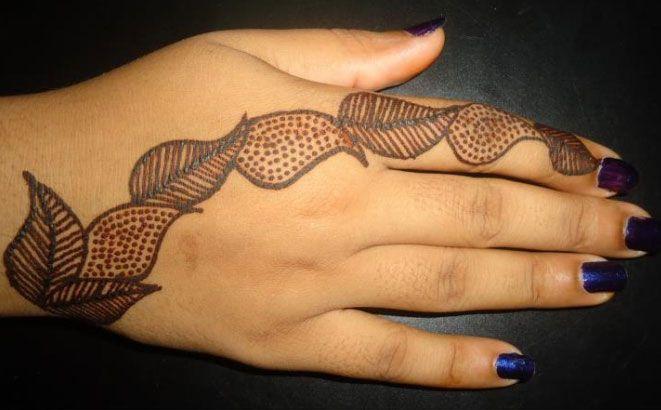everyday henna design very simple