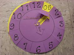 Gran reloj libre de la plantilla! Gran para la enseñanza de recuento en 5 segundos, luego pasar a tiempo.