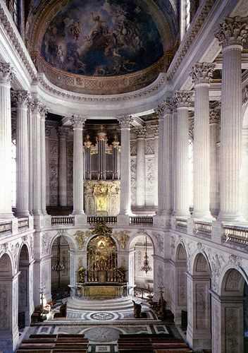 The Royal Chapel, Versailles. Never been but this I have to say might be my favorite. The Classic and Baroque elements are absolutely stunning plus my fav is the Corinthian columns.