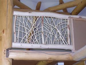 diamond willow railing