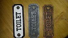 Efecto De Metal Estilo Vintage Baño Puerta Cartel Placa Rústico Shabby Chic Victoriano