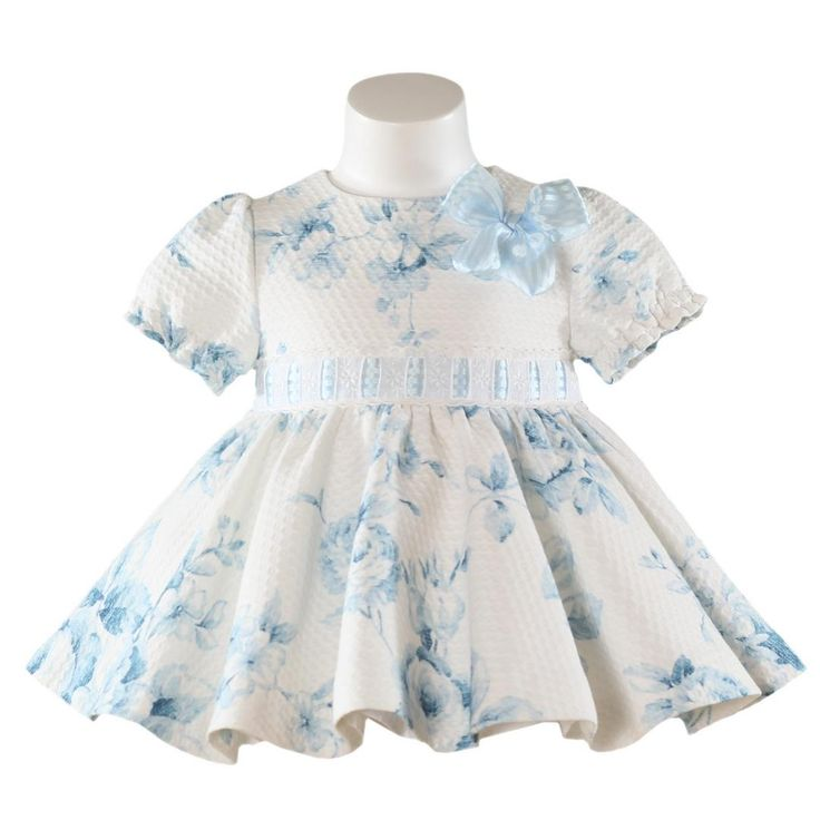Vaatteita tytöille. Miranda textilesin kukkakuvioinen mekko tytölle. Vauvanvaatteita ja lastenvaatteita www.nellikki.fi