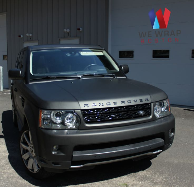 Matte Black vinyl wrap on 2012 Range Rover  www.wewrapboston.com