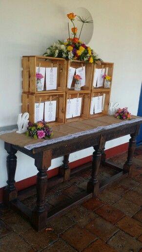 Mapa de mesas estilo rustico