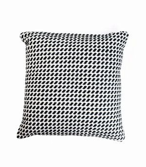 The Stables offers a beautiful collection of woven cushions all designed in Australia.    The WILLOW Cushion is made from cotton with a jersey rug weave.   Colour: charcoal and marshmellow.  Dimensions: 50cm x 50cm  Includes feather insert.  $89.95 AUD http://www.thestablesco.com.au/shop/willow