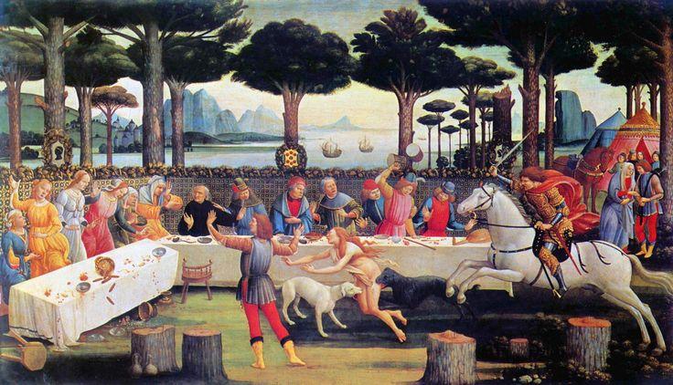 Sandro Botticelli - Die Geschichte von Nastagio degli Onesti dritte Episode