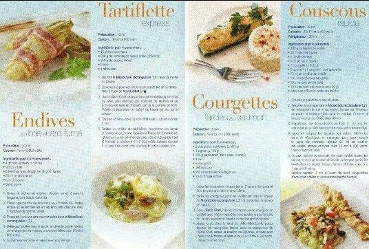 Fiche recette microcook rect 1 7l 2 2 tupperware endives au brie et lard - Recette crepe tupperware ...