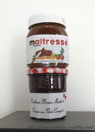 Confiture Bonne maîtresse & Nutella Cadeau 2013
