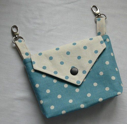 Sew this. Can even take it with you and attach it to your belt or belt loops. Even though I don't know about the weight dragging your pants down. Might be more functional on a peplum waist.