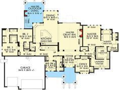 Rugged Craftsman with 4 Beds and Bonus - 69599AM   Architectural Designs - House Plans