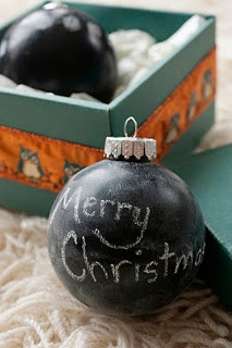Chalkboard Ornaments -- such a cute idea!