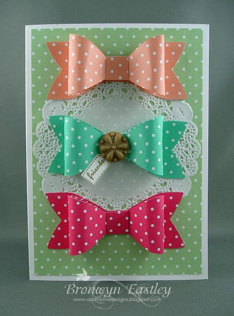addINKtive designs: In Colour Bows and a Butterfly