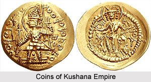 coins of kushana dynasty approximately 30-375 CE