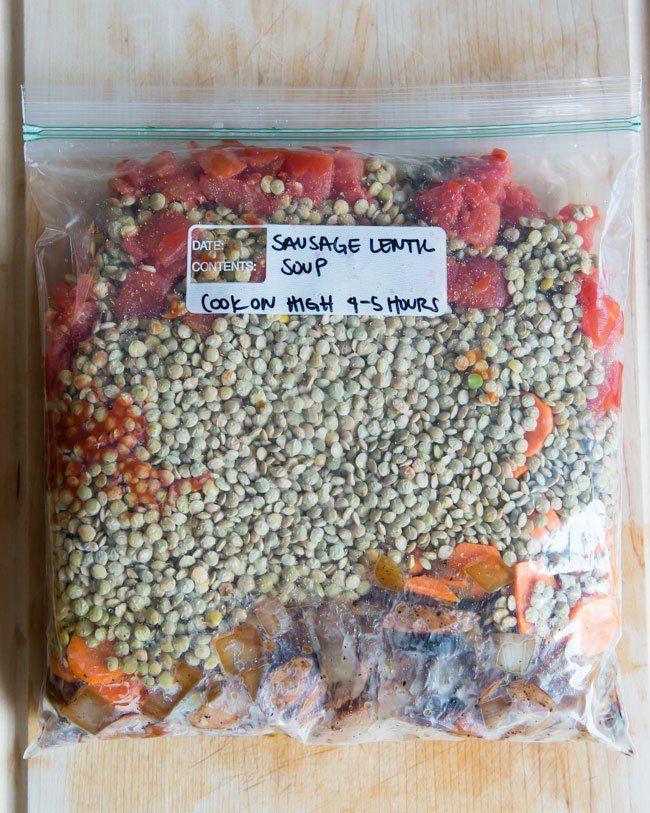 25 Prep Ahead Freezer to Slow Cooker Dump Meals #brilliant #mealprep #organize