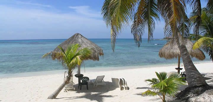 Akumal beaches on the Caribbean. Great for swimming, snorkeling, kayaking, diving, beach combing and socializing.